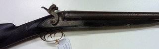 Cogswell and Harrison double barrel percussion hammer gun in 8 gauge