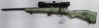 Savage Mk 11 left hand bolt action rim fire rifle in 22