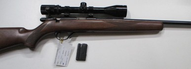 Stirling model 1500 bolt action rim fire rifle in 22 Magnum