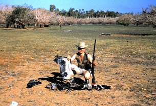 Ken Martyn shooting in the Territory