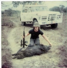 Jon Martyn pig shooting Cape York