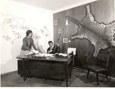 Ken Martyn in office in Lonsdale Street